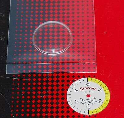 New Starrett 711 Last Word Replacement Crystal And .001 Shaded Dial Face