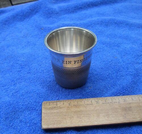 Fine GERMAN 835 Silver THIMBLE FORM SHOT GLASS-NUR EIN FINGERHUT VOLL