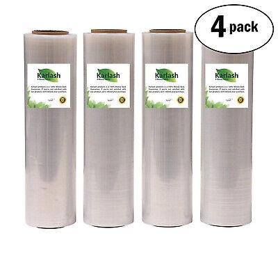 Karlash Shrink Wrap Stretch Film Plastic 20 X 1500 Ft Per Roll 80gau 4 Roll