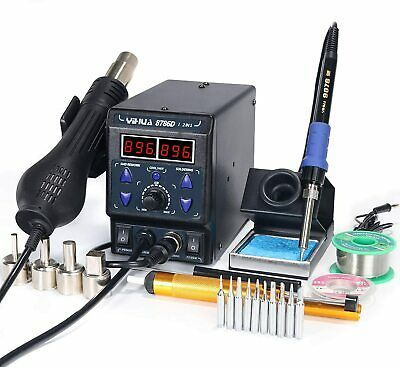 Yihua 8786d I 2 In 1 Hot Air Rework And Soldering Iron Station With F C