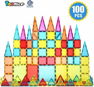 Children Hub 100pcs Magnetic Tiles Set - Educational 3D Magnet Building Blocks