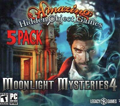 Computer Games - Amazing Hidden Object Games Moonlight Mysteries 4 PC Game Window 10 8 7 Computer