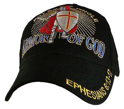 2549f422fbc ARMOR OF GOD With Knight CHRISTIAN HAT BASEBALL CAP Ephesians 6 13-17