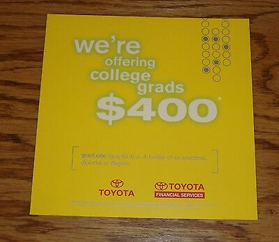 Original 2001 Toyota Financial Services Foldout Sales Brochure 01