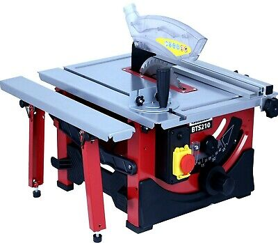 """Powerful 1200W Bench Table Saw with Sliding Side Extension & 210mm 8"""" Blade 240V"""