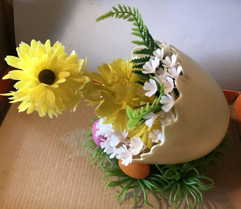 Vintage Plastic Easter - An Egg Flowering Chick Reliance Trading Decoration!