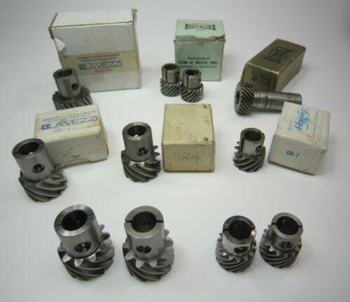 LOT of 11 Steel Gears for 35mm Film Projectors, Parts, La Vezzi, Edward Wolk,