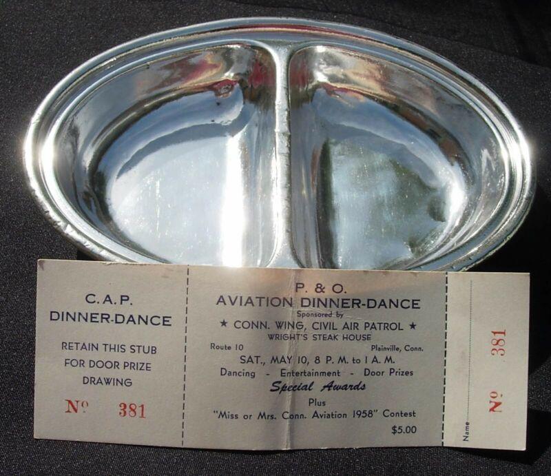PENINSULAR & Occidental Silverplate Div Dish Mappin & Webb 1958 CAP Dance