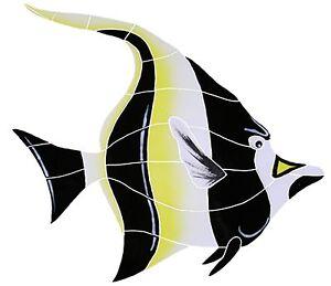 Mosaic Tile Moorish Idol Fish for Swimming Pool or Wall Large 15