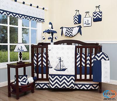 Baby Nautical Explorer 13 Piece Nursery CRIB BEDDING SET