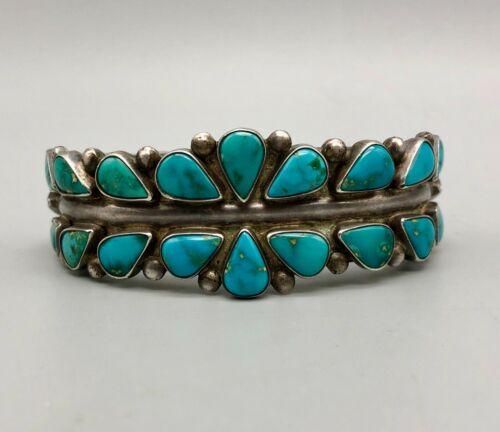 Brilliant 1930s-1940s Turquoise Ingot Bracelet