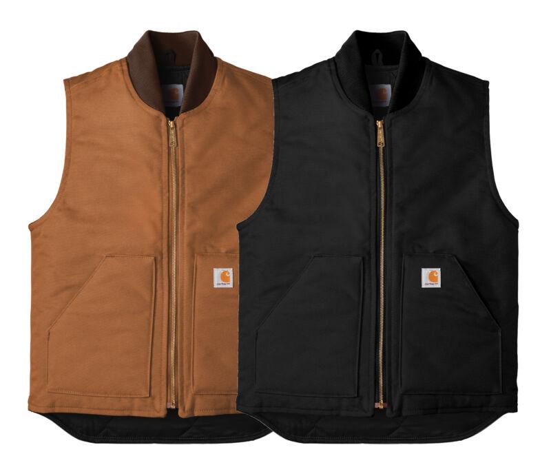 New Mens Carhartt Arctic Quilt Lined Duck Vest CTV01 - Pick Color & Size