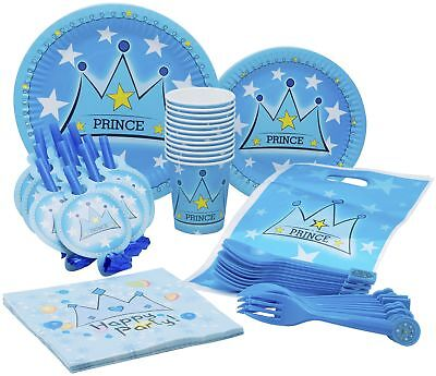 10 Guest - Little Prince Themed Birthday Party Plates, Cups, Napkins & More!](Prince Themed Party)