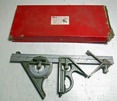 Enco  684-1 Combination Square - Protractor - Centering Head -- Machinist