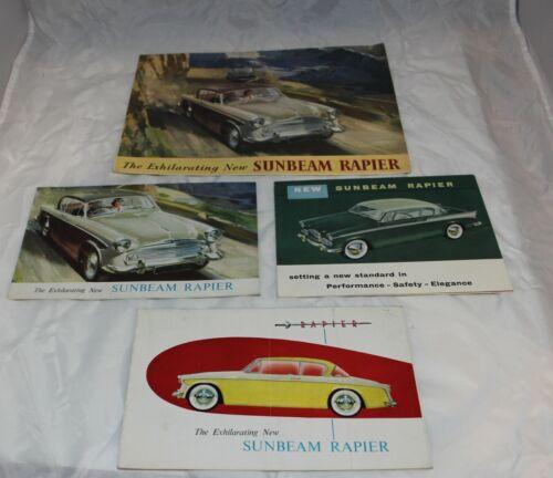 Lot of 4 Sunbeam Rapier Sales Brochures Advertisements