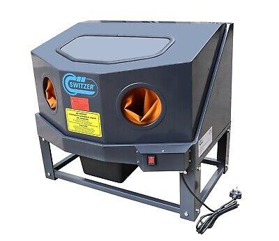 SwitZer Benchtop Enclosed Parts Washer Cleaner Workshop Degreaser Pump Grey