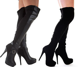 WOMENS-LADIES-BLACK-OVER-THE-KNEE-THIGH-HIGH-STILETTO-HEEL-PLATFORM-SEXY-BOOT-SZ