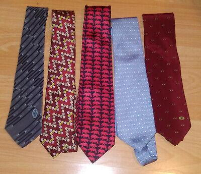 Neckties Men's 5 Designer Ties Versace Pucci Gucci Vineyard Vines