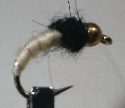 Glo Bug Flame #12; 1 Dozen Trout Fishing Flies