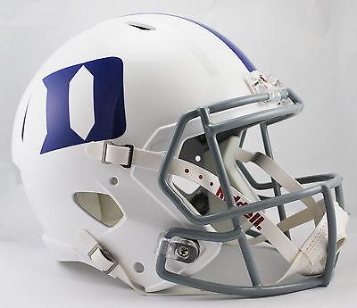 DUKE BLUE DEVILS NCAA Riddell SPEED Full Size Replica Football (Blue Replica Football Helmet)