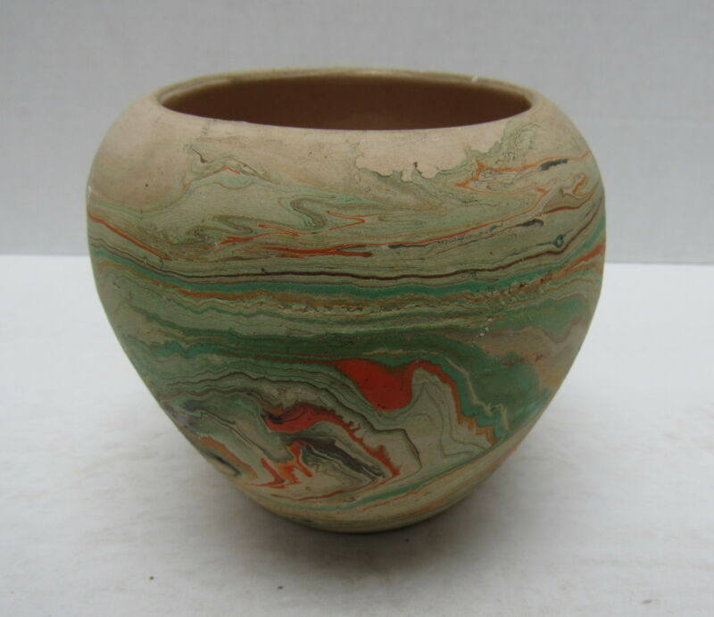 "Mid-Century Garden of the Gods? 4"" Swirl Pottery Pot Vase"