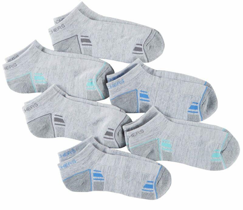 Skechers Womens 6-pk. Colorblock Active Low Cut Socks 9.5-11 Grey multi