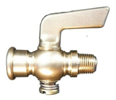 1//2in Flare Brass Drain Pet Cock Shut Off Valve Fuel Gas Air ball pipe plumbing