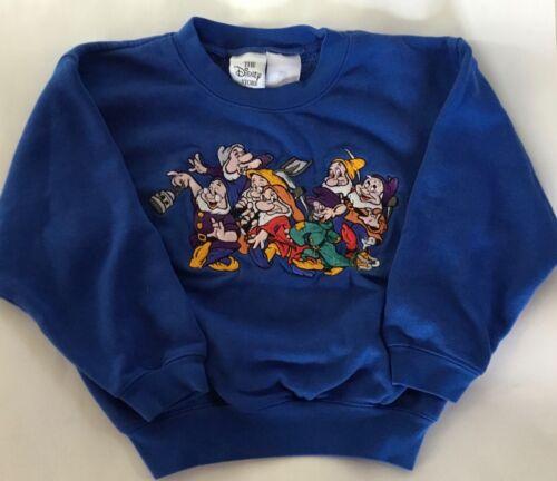 Vintage 90s Disney Stores The Seven Dwarfs White Sweatshirt Kids Size Small 4-6