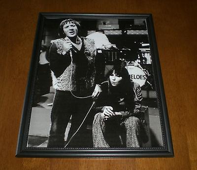 1965 SONNY & CHER PERFORMING FRAMED B&W PRINT