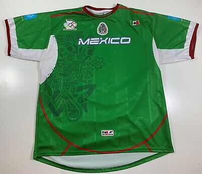 Ortega Sport MEXICO Futbol Soccer Jersey Adult L/XL Olympic Athens 2004 Vintage image