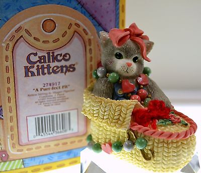 Calico Kittens A PURR-FECT FIT 274917 IN SPECIAL BOX *** FREE USA SHIPPING!