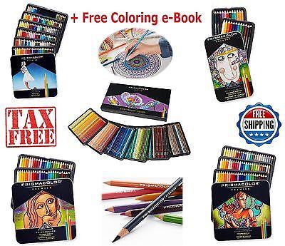 Prismacolor Premier Colored Pencils Soft Core 24 48 72 132 150 Colors Pack