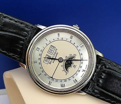 Blancpain 18k White Gold Villeret Moonphase Triple Calendar Watch ~ Automatic