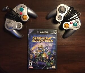 Starfox adventures + 2 manettes Gamecube