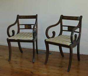 Two chairs, half table and mirror Mount Colah Hornsby Area Preview