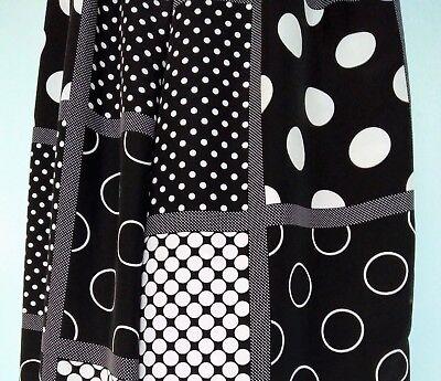*neuf pantalon fluide à pois noir / blanc taille 34, fabriqué en france*