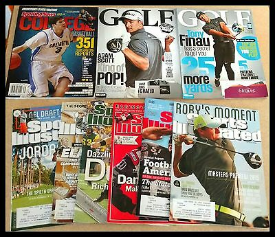 9  Sports Illustrated Magazines College Sporting News Golf Basketball Football