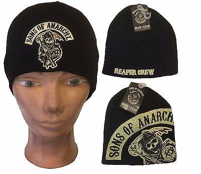 Authentic Sons Of Anarchy Soa Logo Biker Samcro Ski Snowboard Beanie Hat Cap