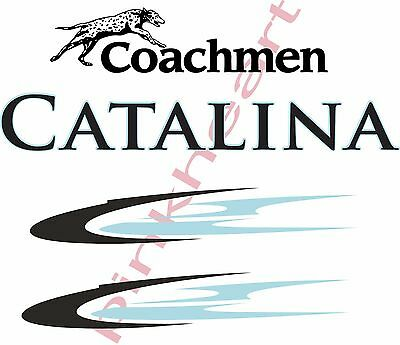 Coachmen 2 toned Catalina Decals RV sticker decal graphics trailer camper rv