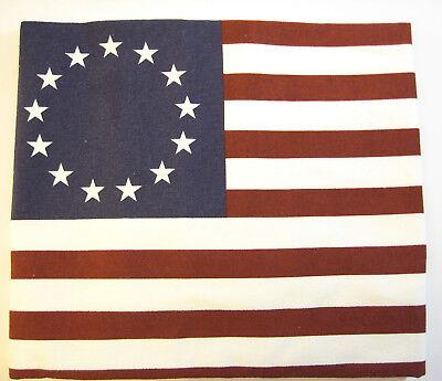 Alice's Cottage Cotton Flour Sack Kitchen Tea Towel 13 Star American Flag - NEW