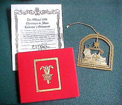 The Official 1991 Christmas in Alton Brass Christmas Ornament  ()