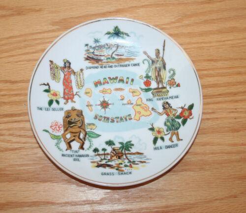 Vintage Hawaii Islands Souvenir Ceramic Plate