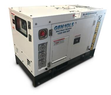 10 KVA Diesel Generator 240V Silenced Canopy - Kubota Copy