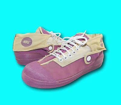 Vintage 80's NIKE Pink Purple Maroon Side Snap Convertible Sneakers Shoes 6.5-7