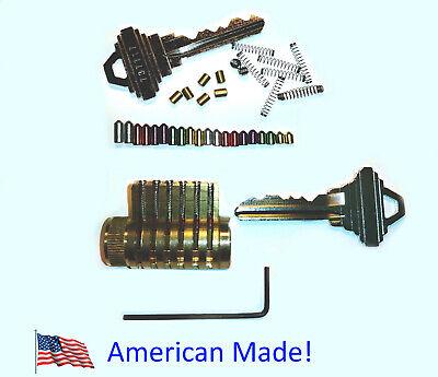 Cutaway Spool Pin Practice Lock Locksmith Training Schlage All Brass