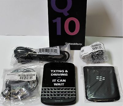 BlackBerry Q10 - 16GB - Black (Sprint) Smartphone Touchscreen QWERTY New Other