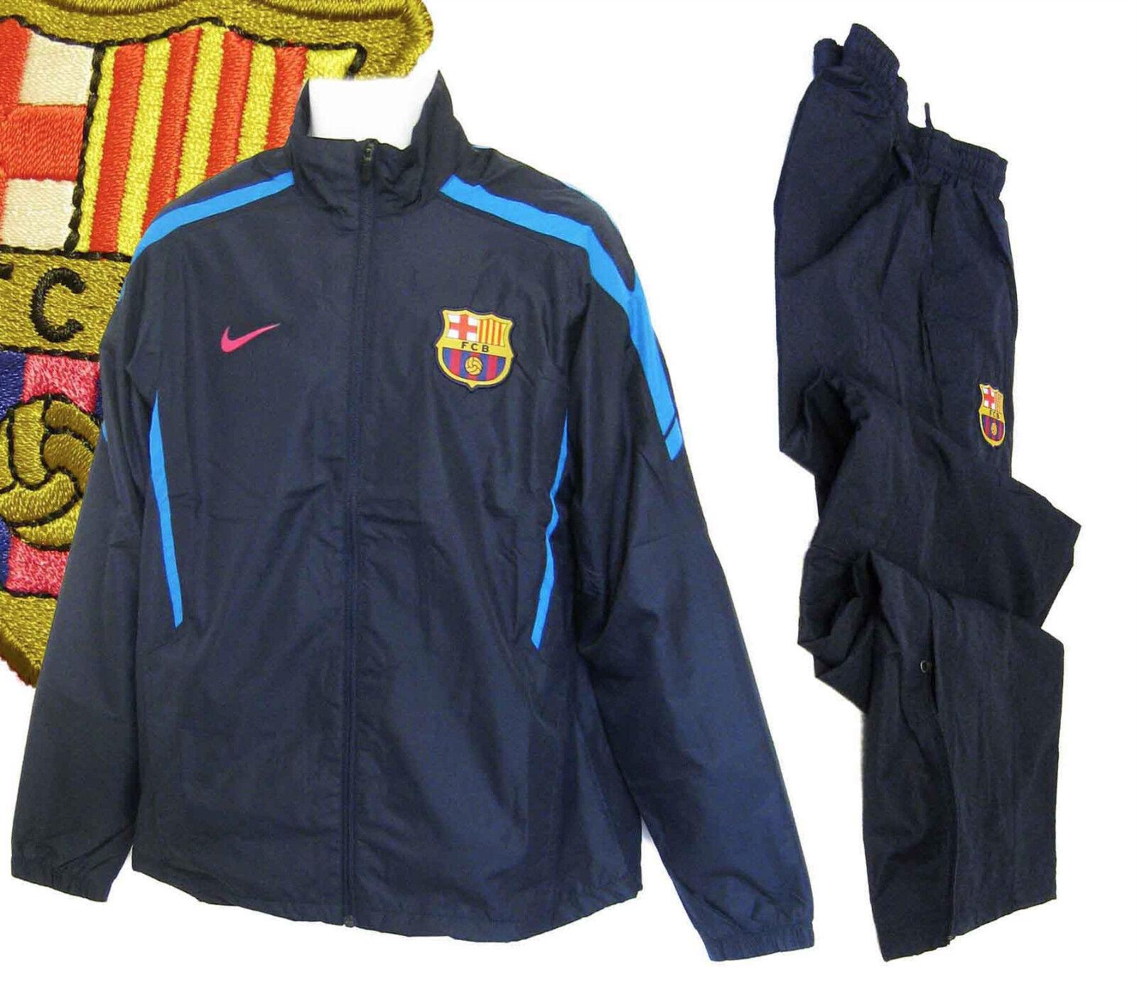 fd431468d5623f Neu Nike Herren Barcelona Fußballverein Trainingsanzug Marineblau Klein