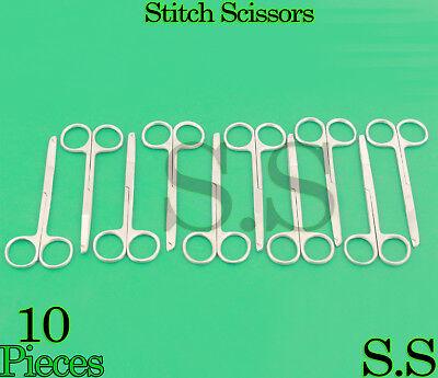 10 Pcs Littauer Spencer Stitch Scissors 4.5 Surgical Suture Veterinary Tools