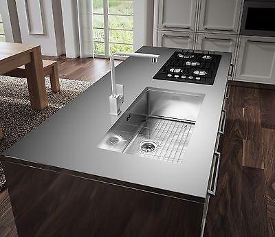 33 Quot Under Mount Single Bowl 16 Gauge Stainless Steel Kitchen Sink Zero Radius