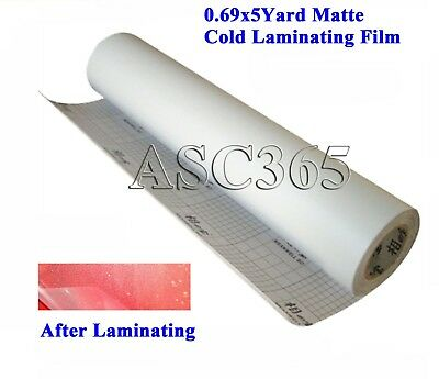 Small Roll 0.69x5yard Matte Cold Laminating Film For Cold Laminating Machine